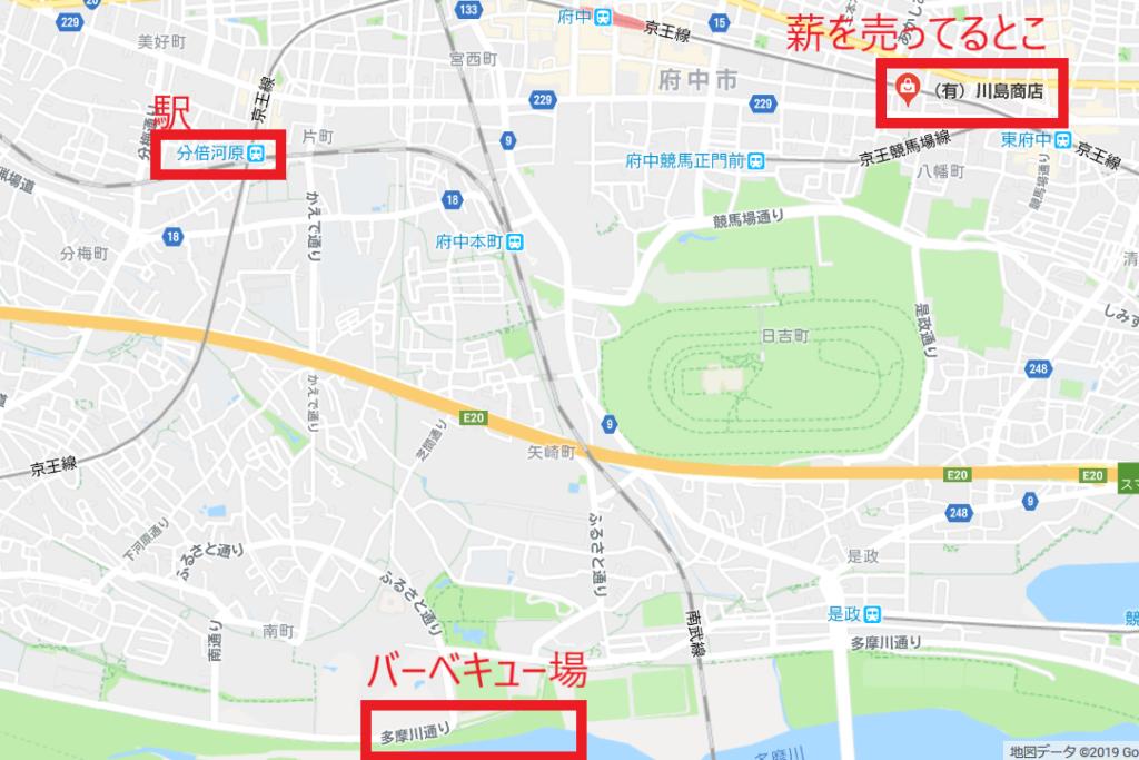 川島商店の位置
