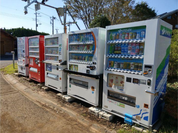 坂田ヶ池総合公園キャンプ場の自販機